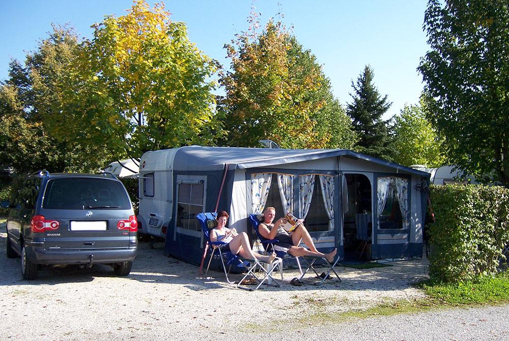Premiumstellplatz auf dem Campingplatz Arterhof in Bad Birnbach