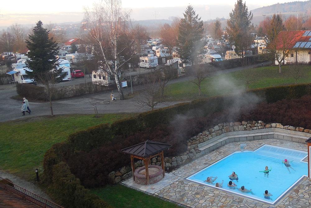 Der Arterhof Campingplatz bei Bad Birnbach im Winter