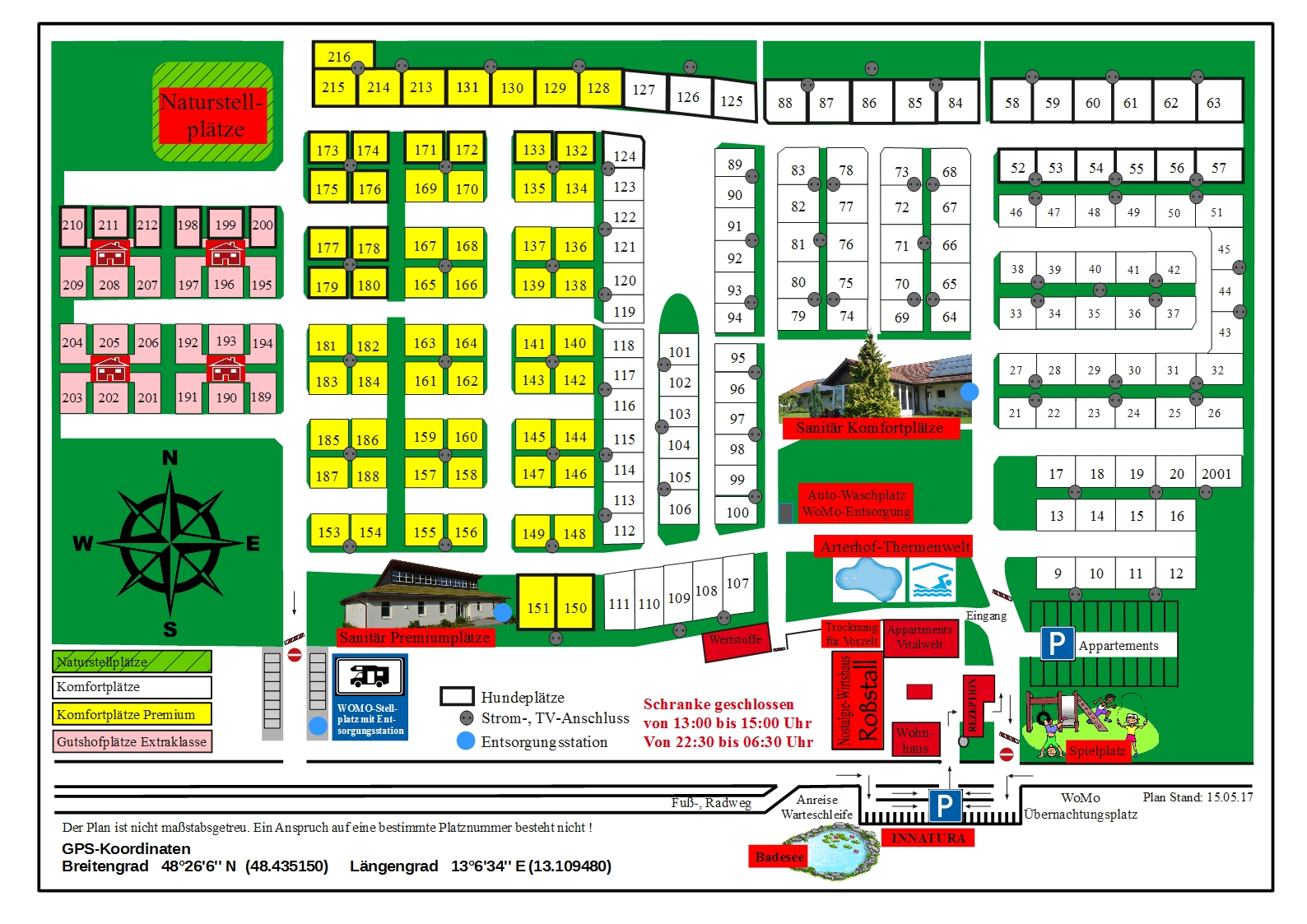 Platzplan 2017 Arterhof Bad Birnbach