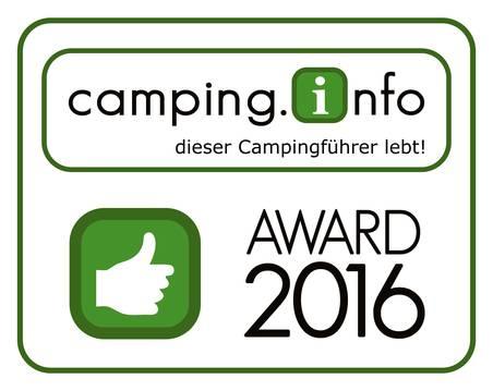 Camping.info Award 2016 für den Kur-Gutshof-Camping Arterhof