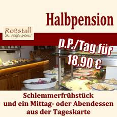 Halbpension für nur 18,90 pro Person/Tag.