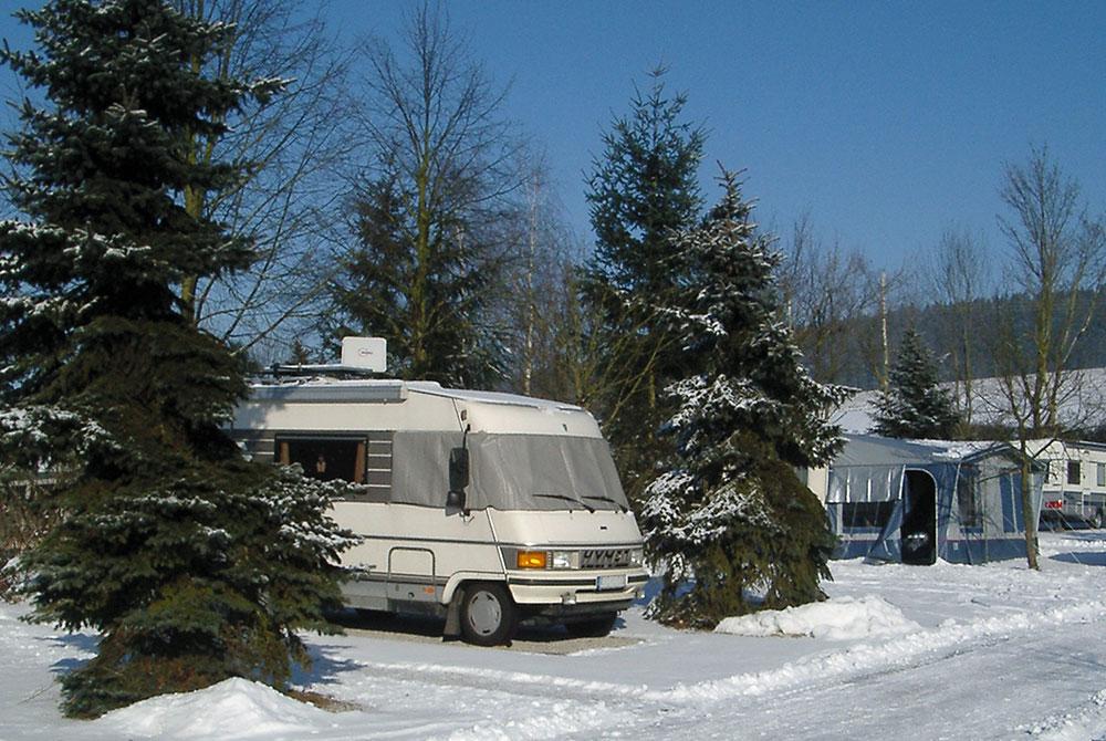 Camping im Winter auf dem Arterhof in Bad Birnbach