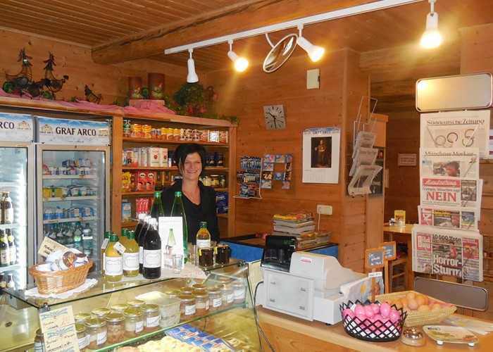 Der Hofladen auf dem Kur-Camping Arterhof in Bad Bernbach